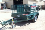 8 X 5 SINGLE AXLE CAGED TRAILER
