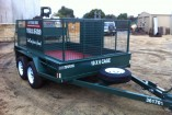 10 X 6 TANDEM CAGE TRAILER