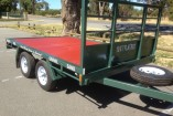 FLAT BED TRAILER 10 X 7